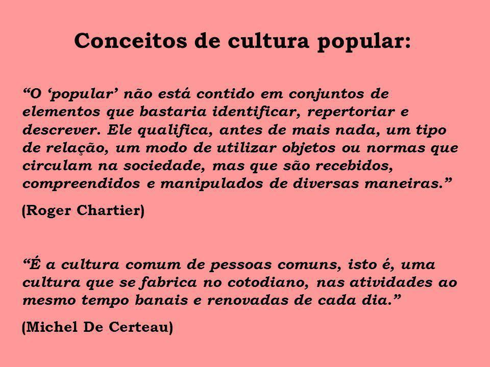 Conceitos de cultura popular: