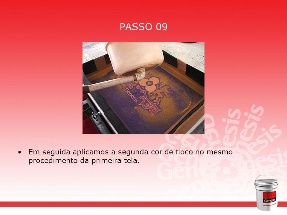 PASSO 09 Em seguida aplicamos a segunda cor de floco no mesmo procedimento da primeira tela.