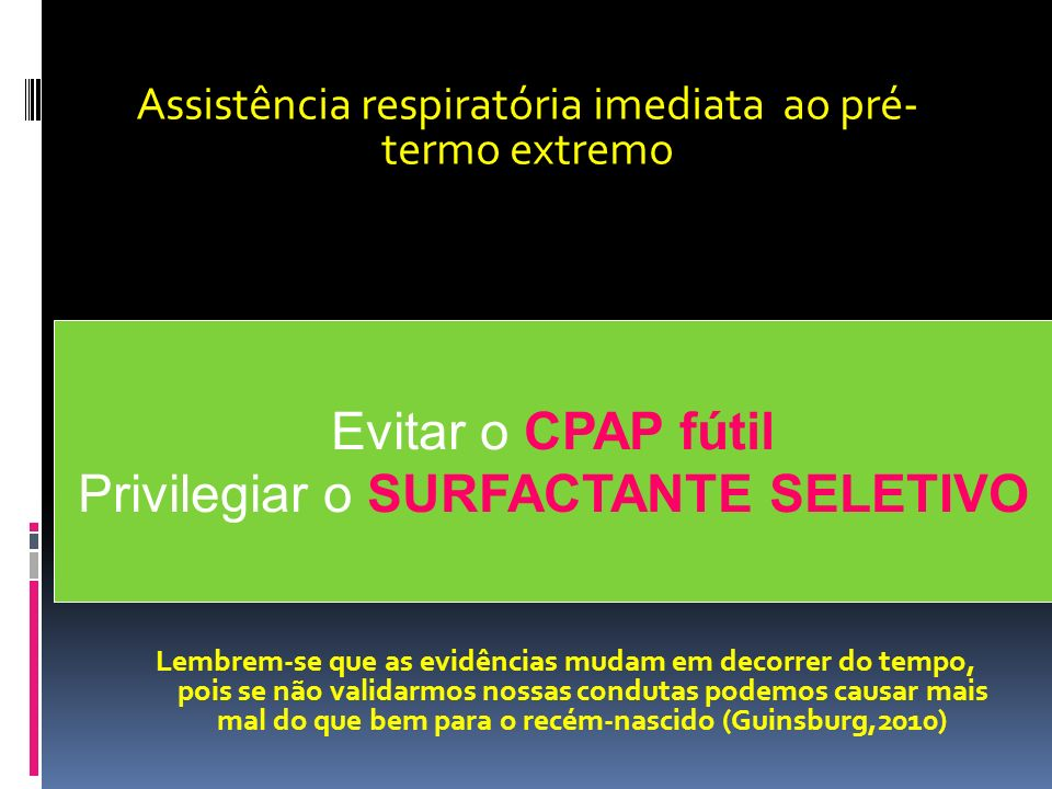 Privilegiar o SURFACTANTE SELETIVO