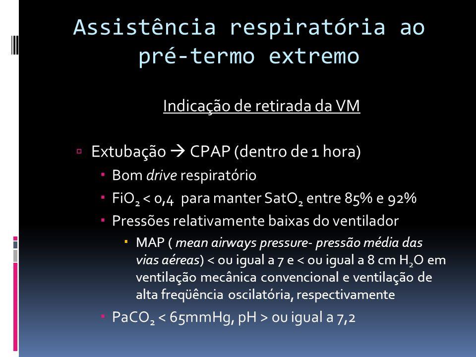 Assistência respiratória ao pré-termo extremo