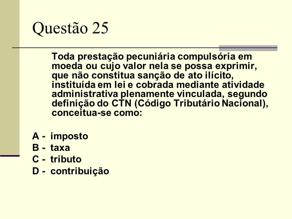 Questão 25