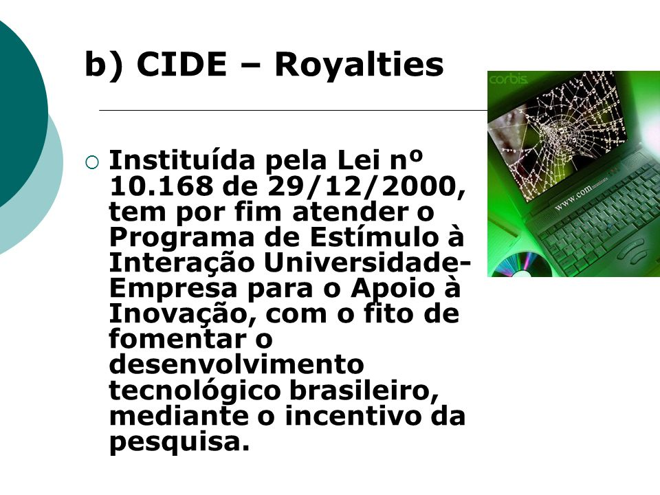 b) CIDE – Royalties