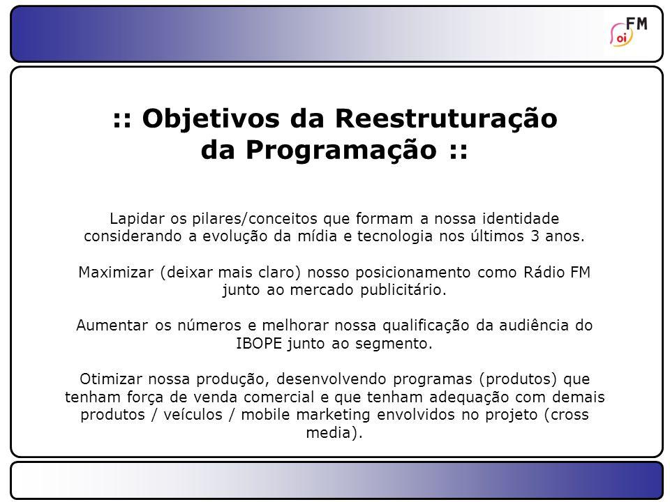 :: Objetivos da Reestruturação