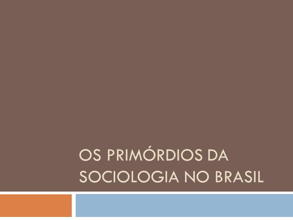 Os primórdios da sociologia no Brasil