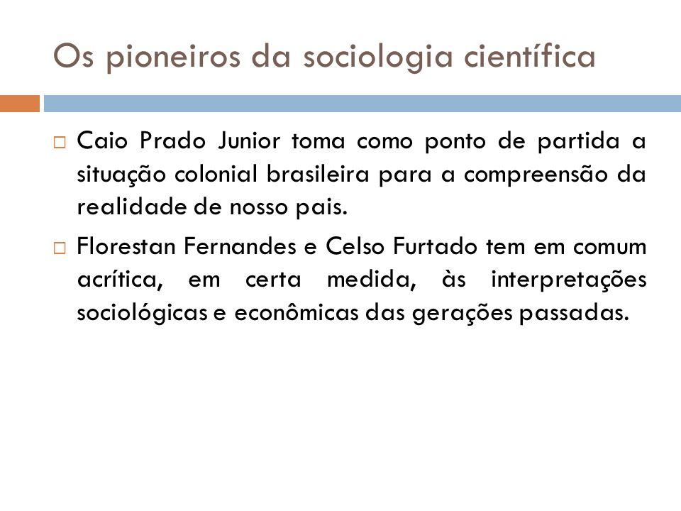 Os pioneiros da sociologia científica