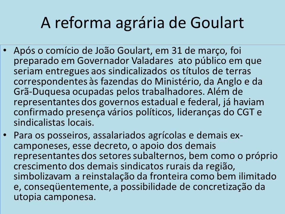 A reforma agrária de Goulart