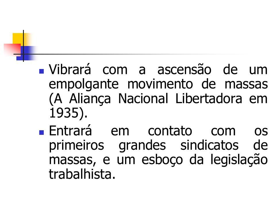 Vibrará com a ascensão de um empolgante movimento de massas (A Aliança Nacional Libertadora em 1935).