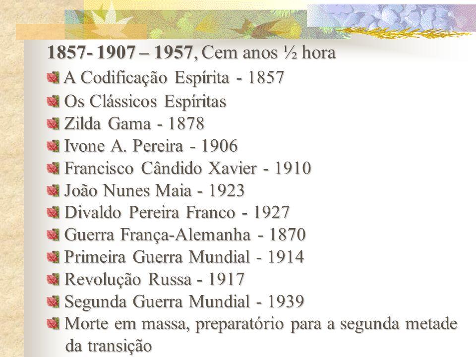 1857- 1907 – 1957, Cem anos ½ hora A Codificação Espírita - 1857
