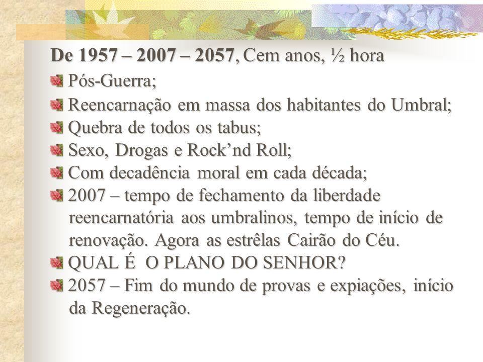 De 1957 – 2007 – 2057, Cem anos, ½ hora Pós-Guerra;