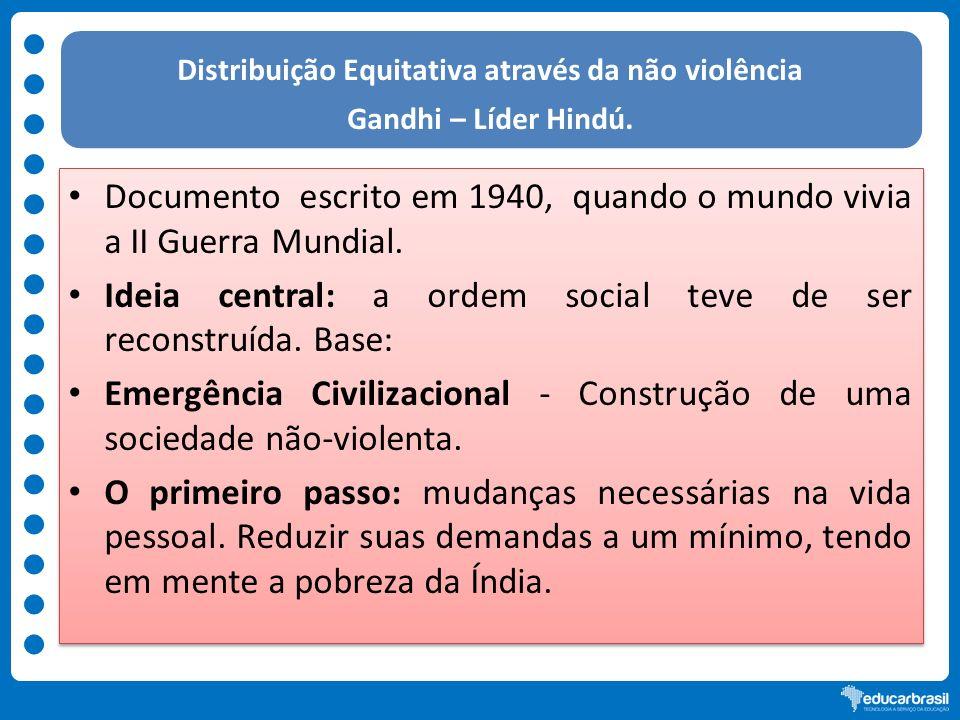 Distribuição Equitativa através da não violência
