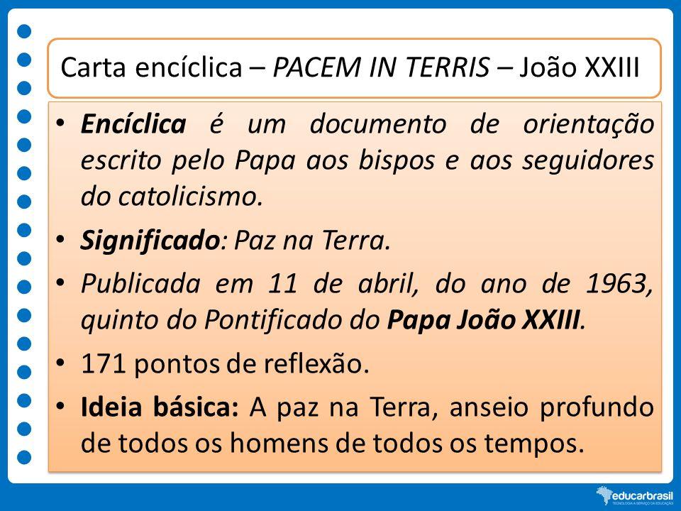 Carta encíclica – PACEM IN TERRIS – João XXIII