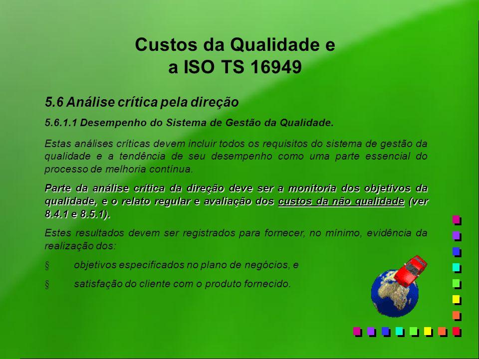 Custos da Qualidade e a ISO TS 16949