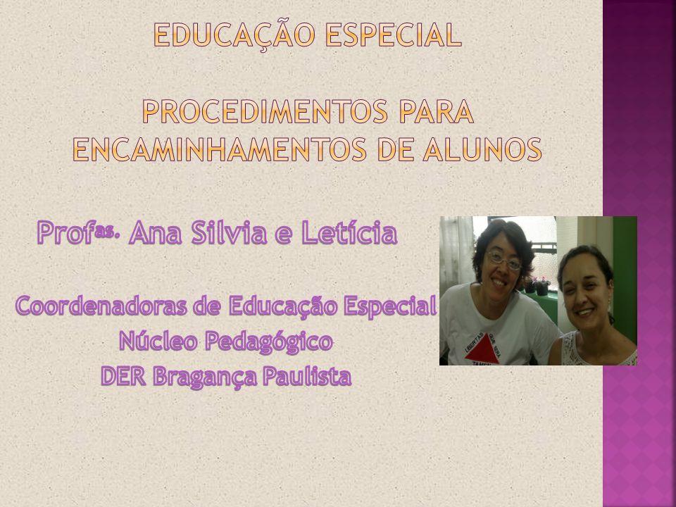 educação especial Procedimentos para encaminhamentos de alunos
