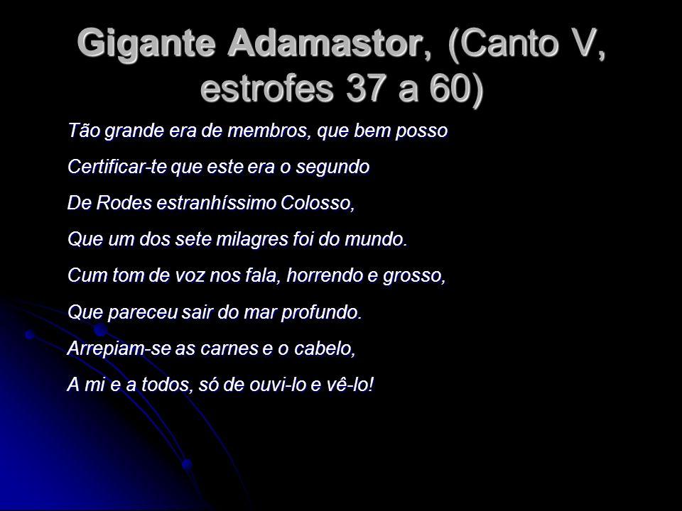 Gigante Adamastor, (Canto V, estrofes 37 a 60)