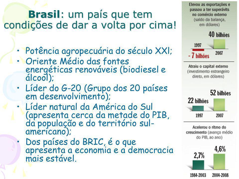 Brasil: um país que tem condições de dar a volta por cima!
