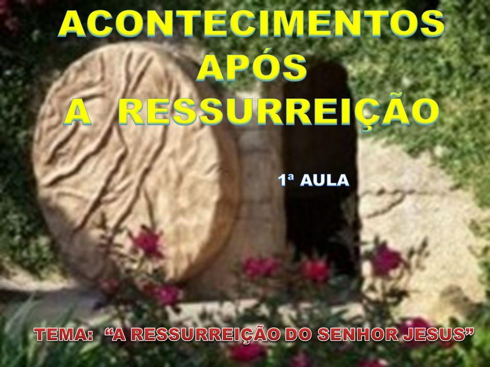ACONTECIMENTOS APÓS A RESSURREIÇÃO