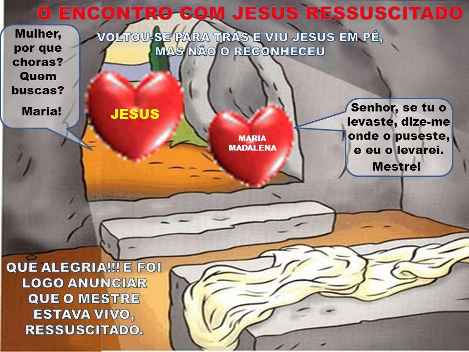O ENCONTRO COM JESUS RESSUSCITADO