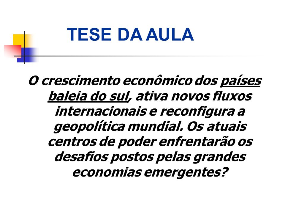 TESE DA AULA