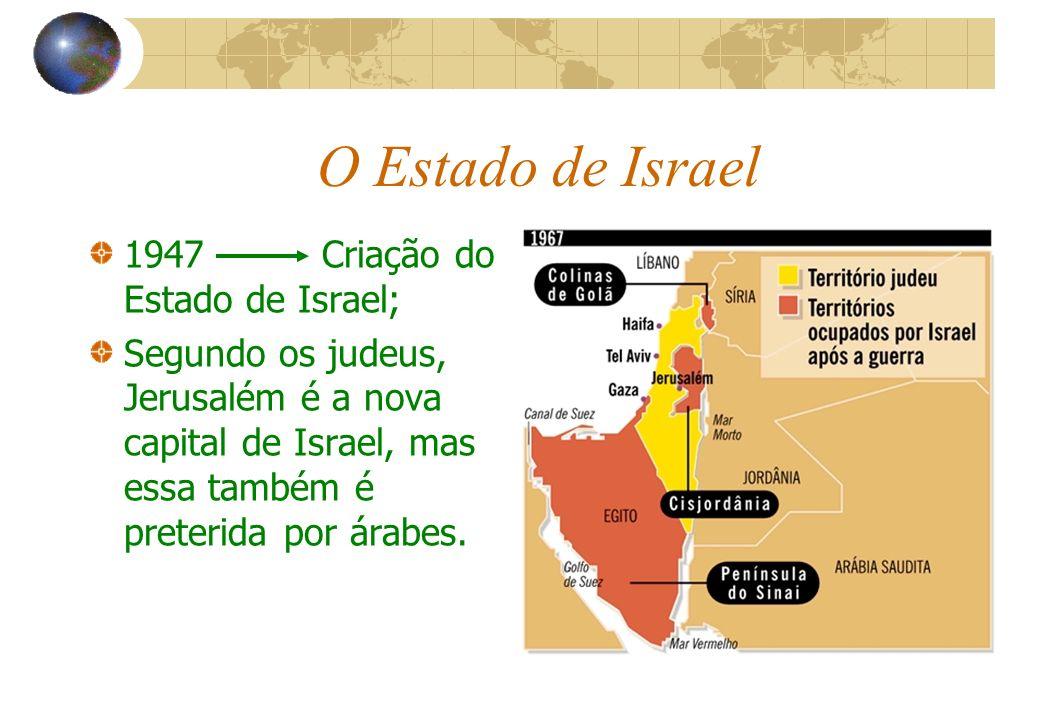 O Estado de Israel 1947 Criação do Estado de Israel;