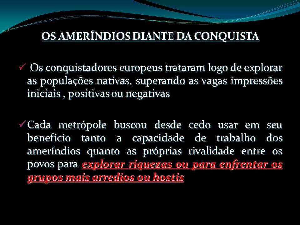 OS AMERÍNDIOS DIANTE DA CONQUISTA