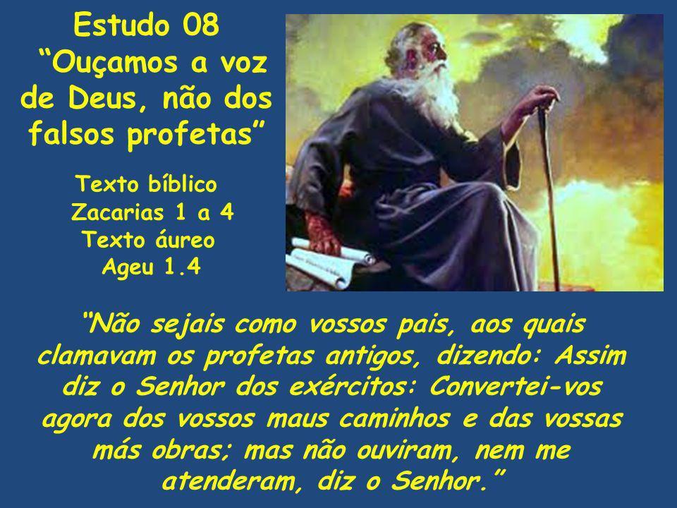 Ouçamos a voz de Deus, não dos falsos profetas