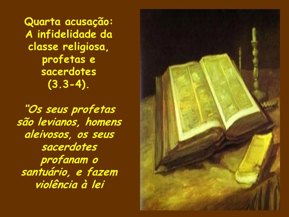 A infidelidade da classe religiosa, profetas e sacerdotes