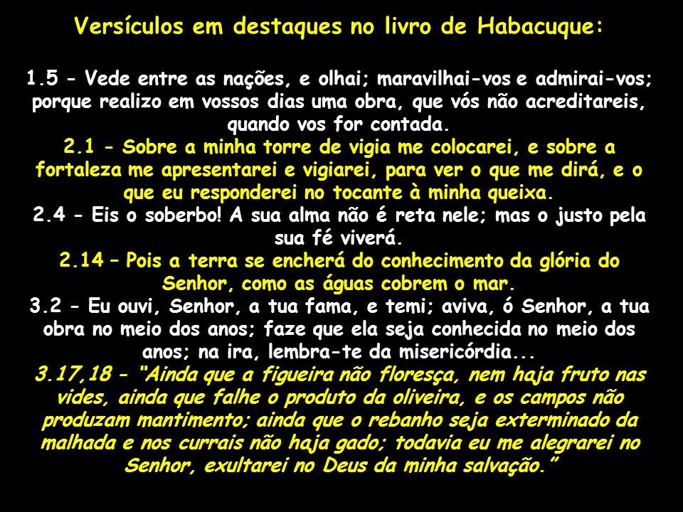 Versículos em destaques no livro de Habacuque: