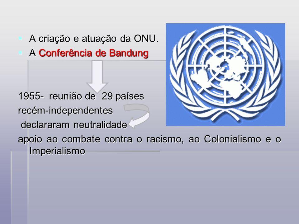 A criação e atuação da ONU.