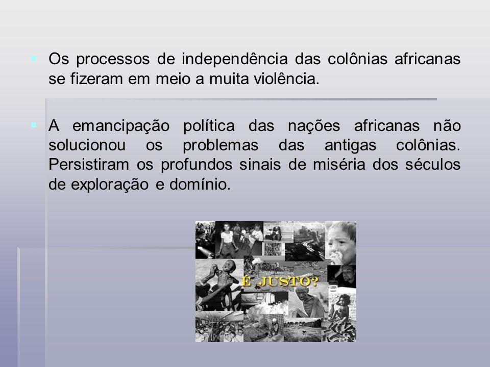 Os processos de independência das colônias africanas se fizeram em meio a muita violência.