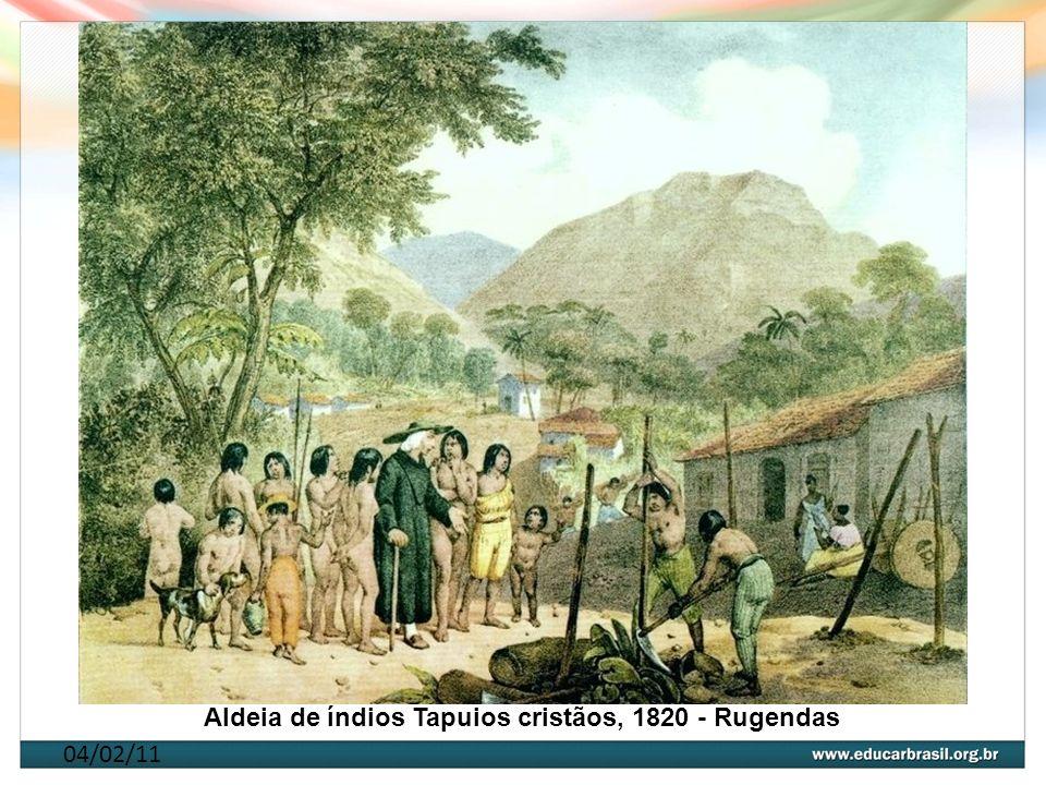 Aldeia de índios Tapuios cristãos, 1820 - Rugendas