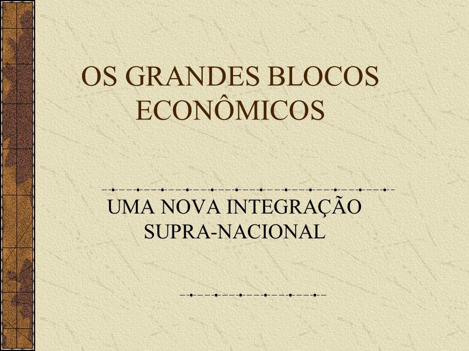 OS GRANDES BLOCOS ECONÔMICOS