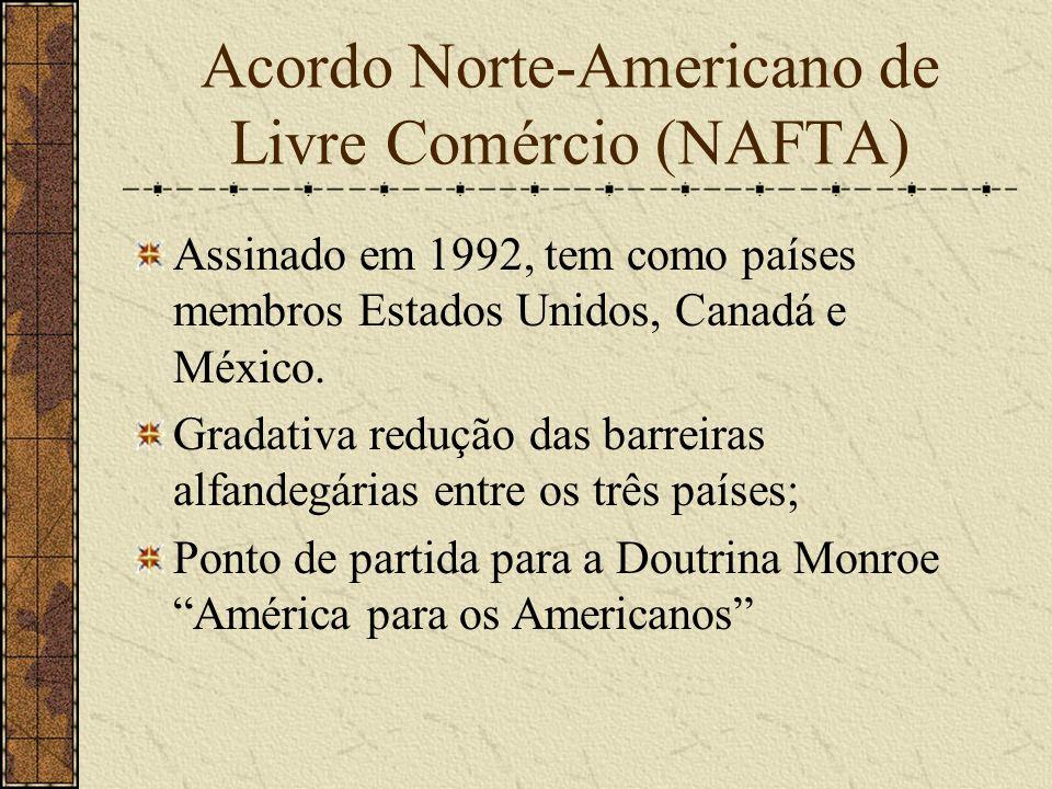 Acordo Norte-Americano de Livre Comércio (NAFTA)