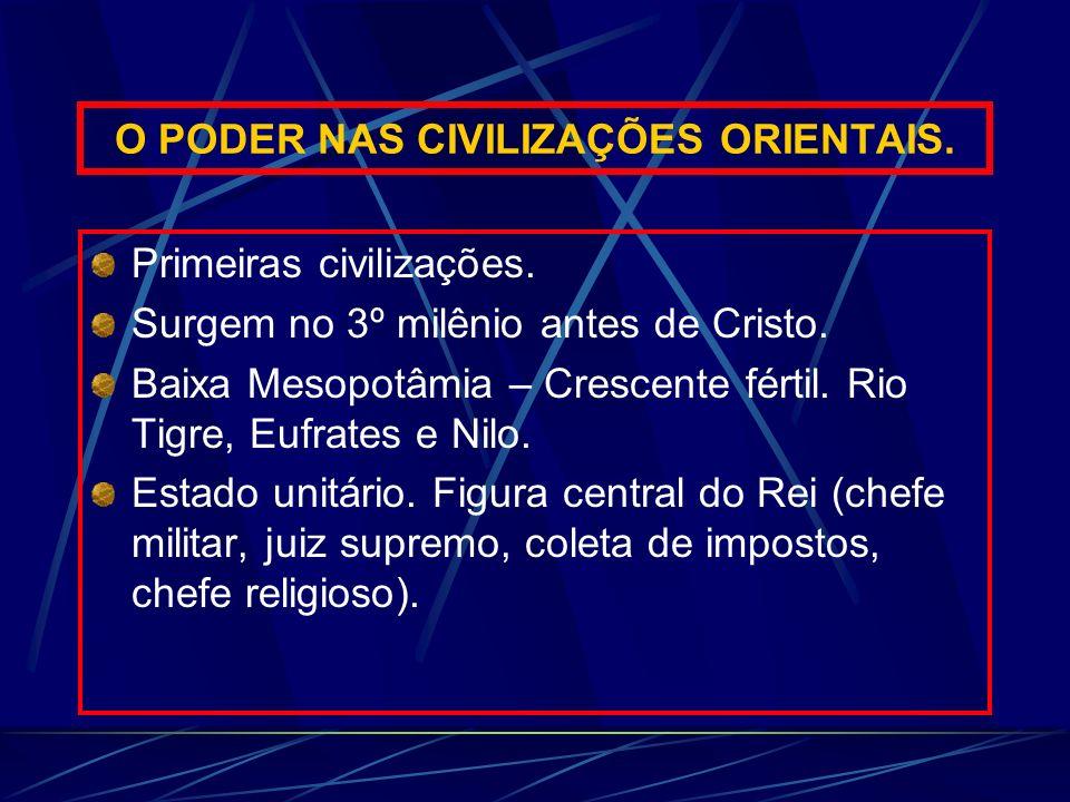 O PODER NAS CIVILIZAÇÕES ORIENTAIS.