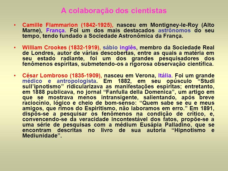 A colaboração dos cientistas