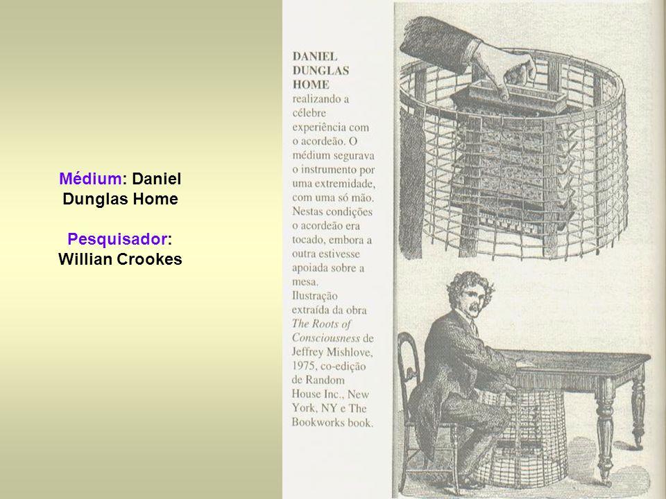 Médium: Daniel Dunglas Home Pesquisador: Willian Crookes