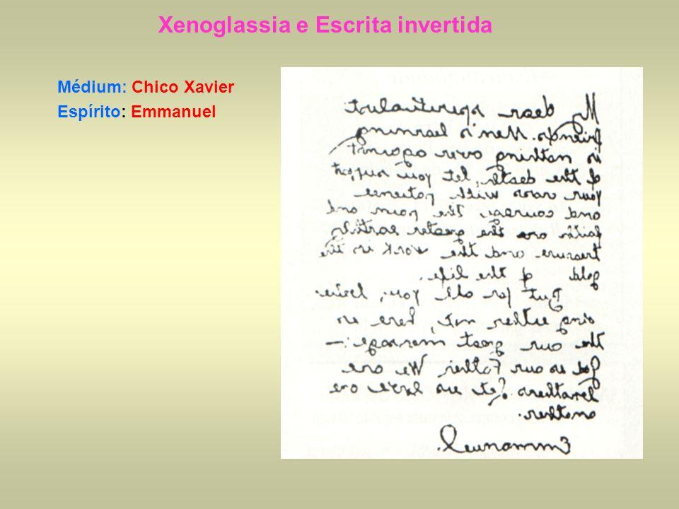 Xenoglassia e Escrita invertida