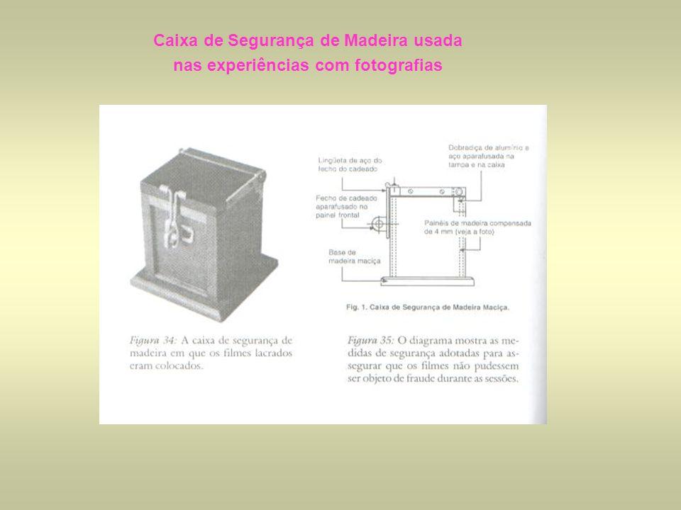 Caixa de Segurança de Madeira usada nas experiências com fotografias