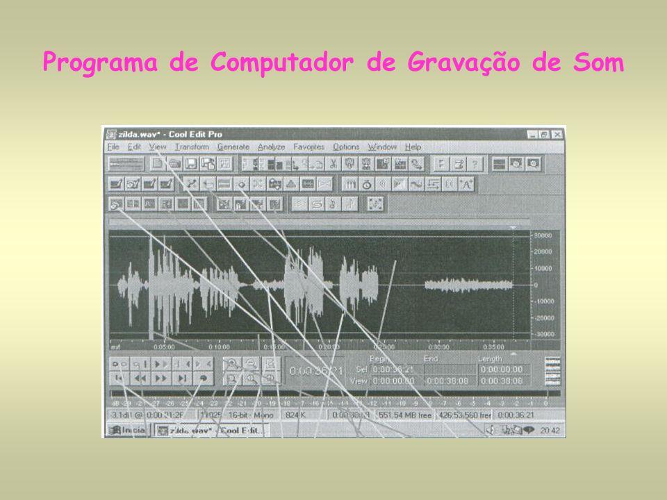 Programa de Computador de Gravação de Som