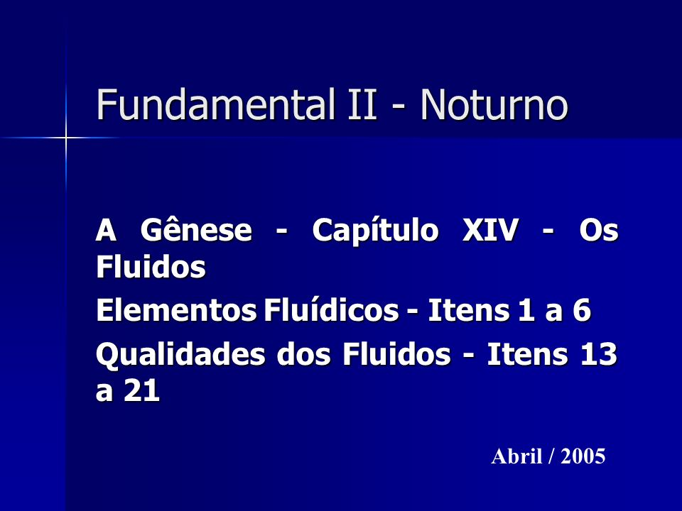 Fundamental II - Noturno