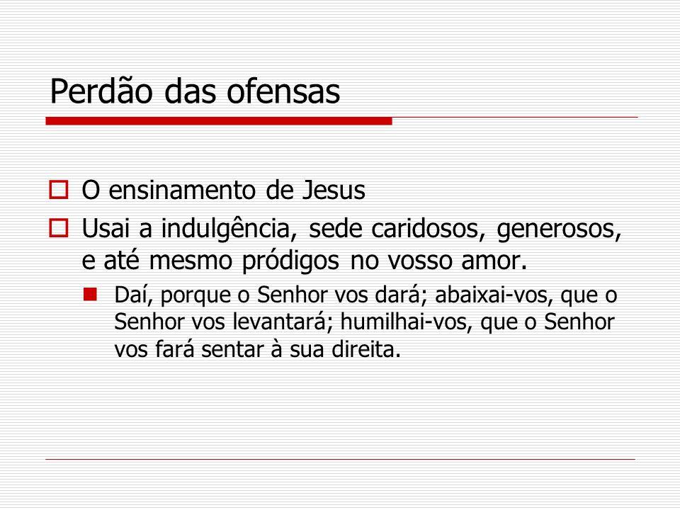 Perdão das ofensas O ensinamento de Jesus
