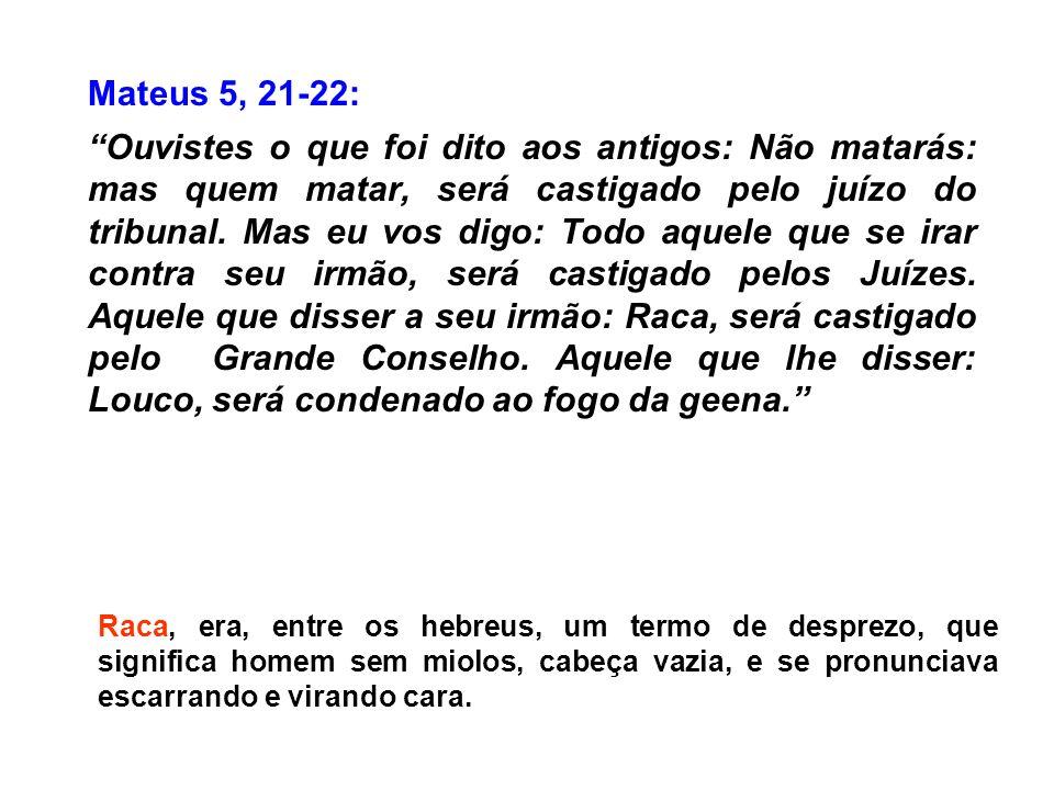 Mateus 5, 21-22: