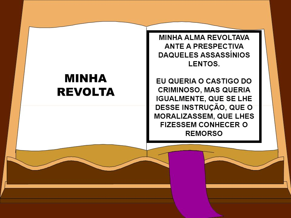 MINHA ALMA REVOLTAVA ANTE A PRESPECTIVA DAQUELES ASSASSÍNIOS