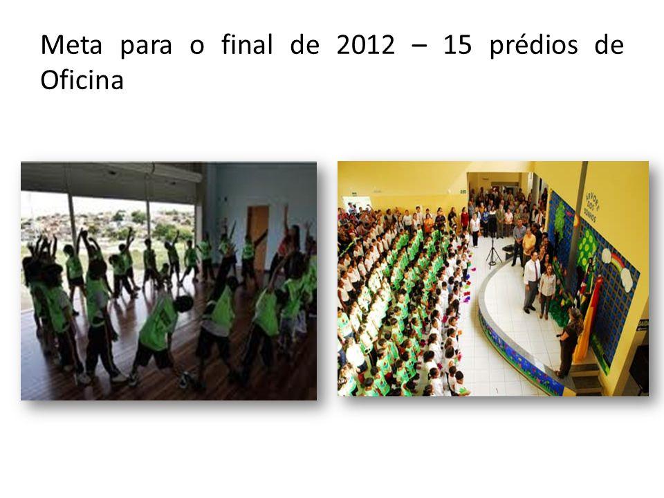 Meta para o final de 2012 – 15 prédios de Oficina