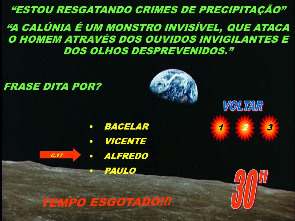 ESTOU RESGATANDO CRIMES DE PRECIPITAÇÃO
