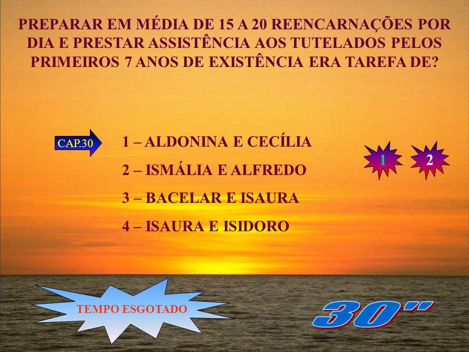 PREPARAR EM MÉDIA DE 15 A 20 REENCARNAÇÕES POR DIA E PRESTAR ASSISTÊNCIA AOS TUTELADOS PELOS PRIMEIROS 7 ANOS DE EXISTÊNCIA ERA TAREFA DE