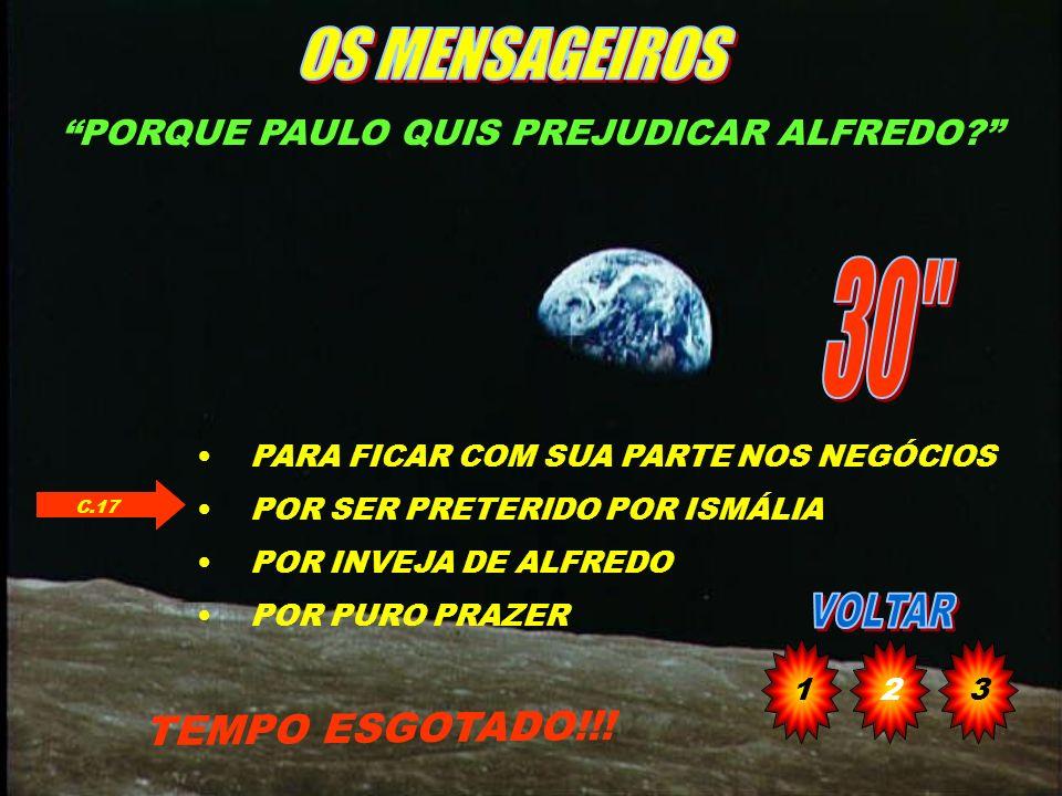 PORQUE PAULO QUIS PREJUDICAR ALFREDO