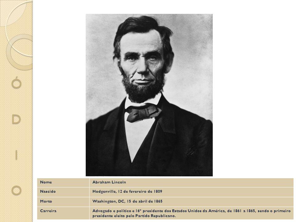 Ó D I O Nome Abraham Lincoln Nascido