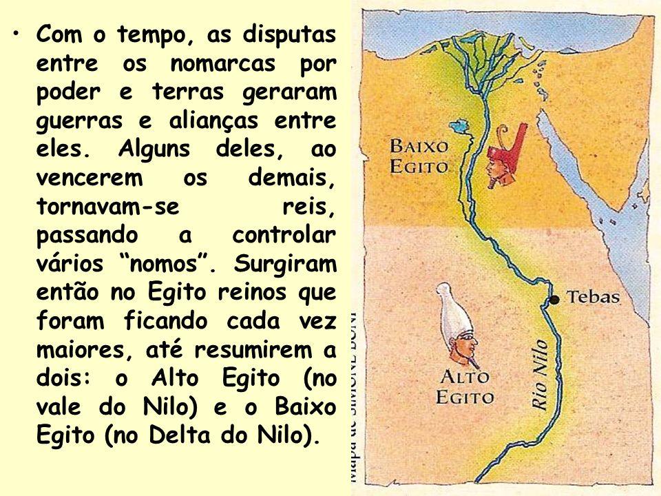 Com o tempo, as disputas entre os nomarcas por poder e terras geraram guerras e alianças entre eles.