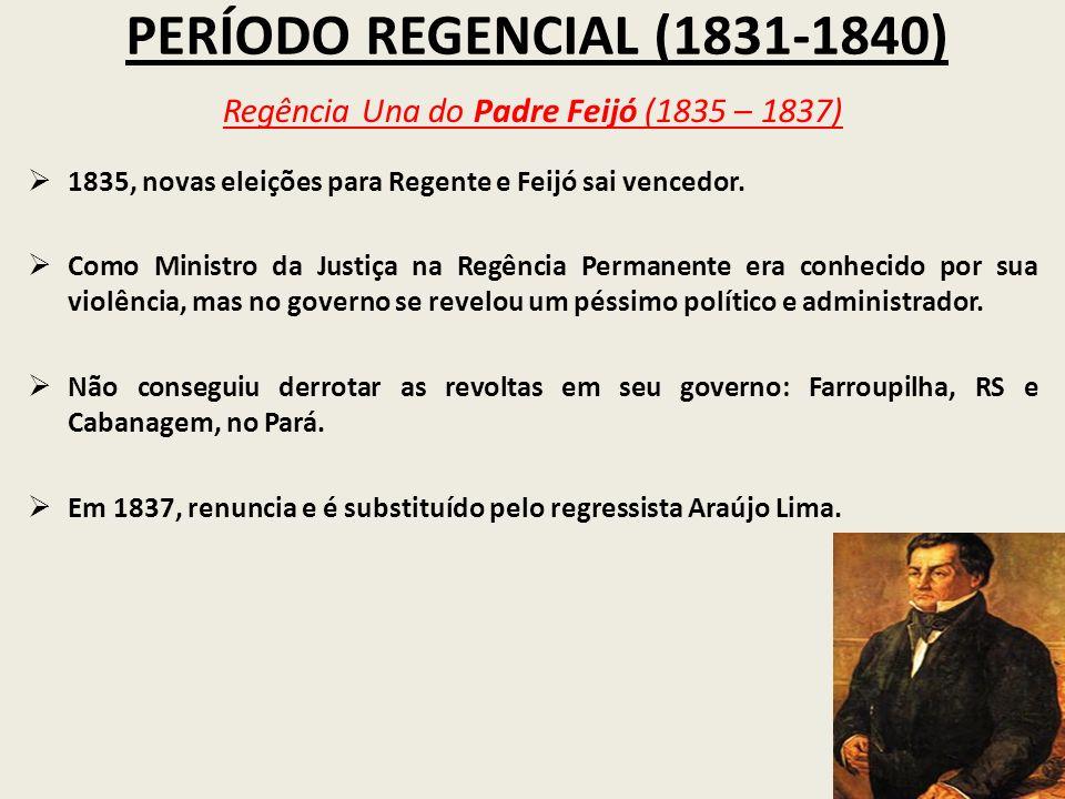 Regência Una do Padre Feijó (1835 – 1837)