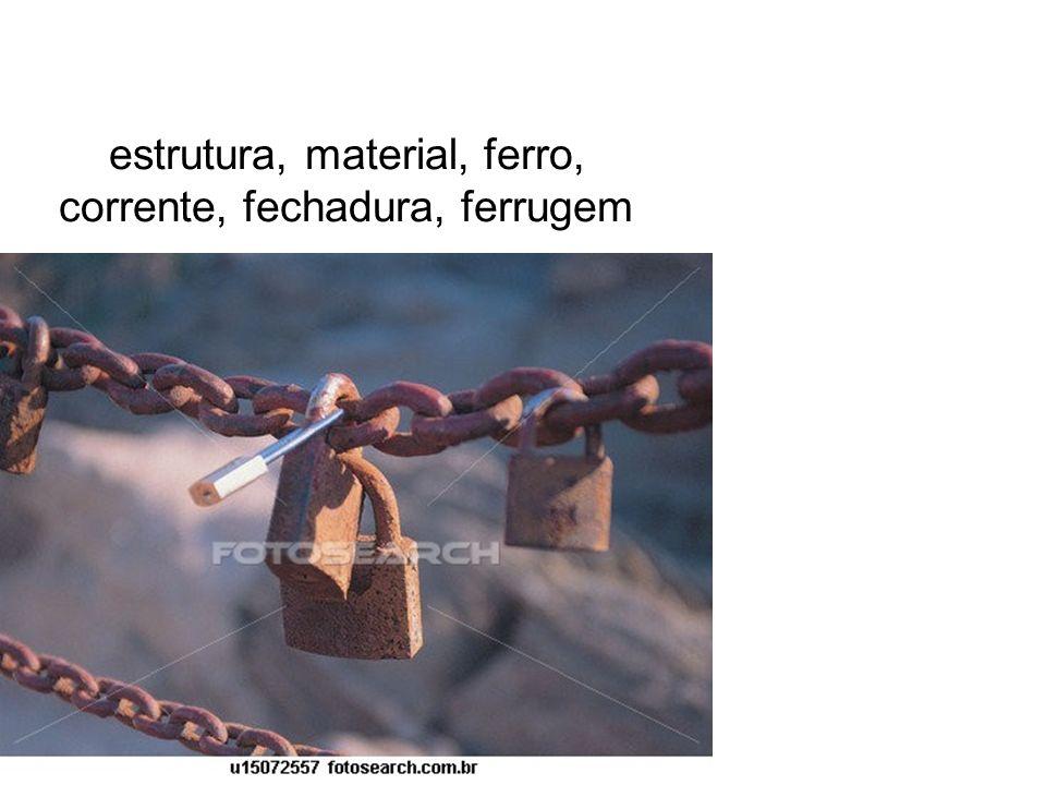estrutura, material, ferro, corrente, fechadura, ferrugem